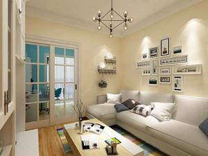 99平米现代简约风格三室两厅一卫装修效果图赏析