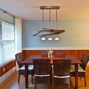 美式乡村风格餐厅吊灯设计装修效果图赏析