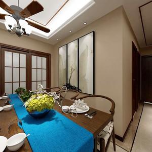 90平米新中式风格室内装修效果图案例