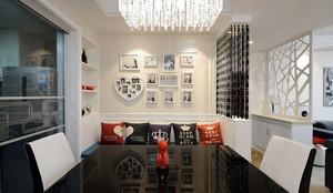现代简约美式风格大户型餐厅照片墙装修效果图赏析