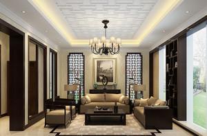 145平米中式风格精致雅韵大户型室内装修案例