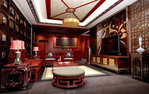 中式风格精致客厅吊顶装修效果图赏析
