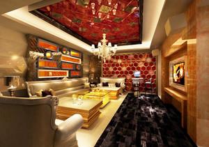 奢华欧式风格KTV包房设计装修效果图