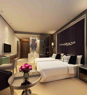 40平米现代风格宾馆客房装修效果图赏析