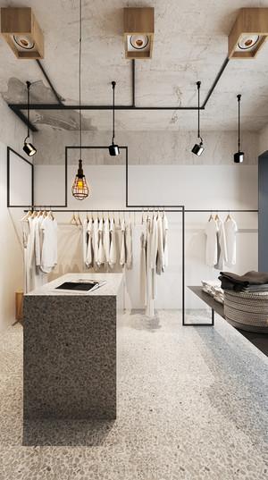 后现代风格极简主义服装店设计装修效果图