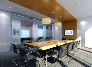 42平米现代简约风格会议室装修效果图赏析