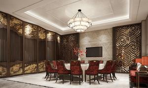 66平米中式风格五星级酒店包厢设计装修效果图