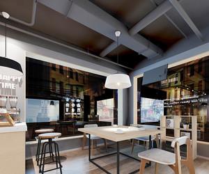 50平米后现代风格奶茶店装修效果图赏析