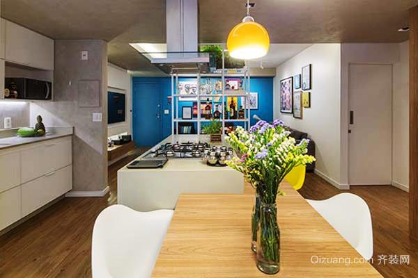 71平米北欧风格一居室小户型室内装修效果图图片