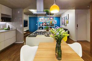 71平米北欧风格一居室小户型室内装修效果图