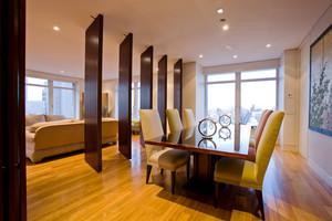 新中式风格别墅室内餐厅隔断设计装修效果图赏析