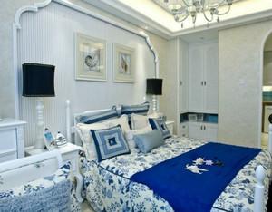 自然海洋地中海风格卧室装修效果图大全