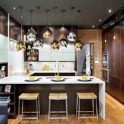 后现代风格开放式厨房吧台设计装修实景图赏析