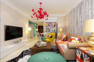 随性混搭风格室内两室两厅室内装修效果图赏析