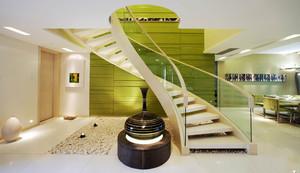 200平米现代简约风格复式楼梯装修效果图赏析
