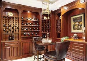 美式乡村风格别墅室内酒柜设计装修效果图赏析