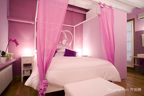 欧式风格粉色梦幻公主儿童房装修效果图大全