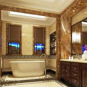 古典欧式风格大户型室内卫生间装修效果图赏析