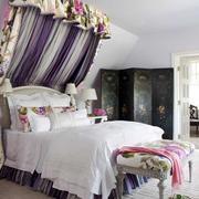 欧式田园风格大户型室内卧室背景装修效果图