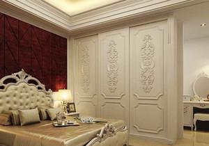 欧式风格大户型室内卧室衣柜装修效果图赏析