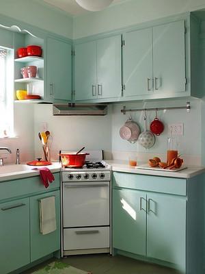 清新自然风格小户型室内厨房装修效果图