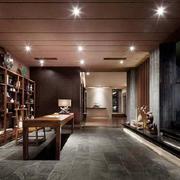 中式风格大户型室内书房设计装修效果图赏析
