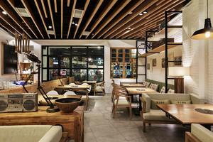 100平米后现代风格精致火锅店设计装修效果图