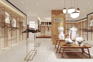 56平米后现代风格内衣店展柜设计装修效果图