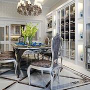 欧式风格奢华精致餐厅酒柜设计装修效果图赏析
