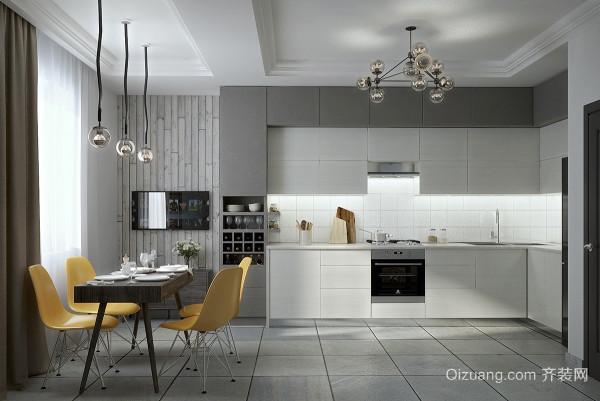 现代简约风格精致大气整体厨房装修效果图赏析