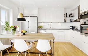 宜家风格大户型室内厨房餐厅装修效果图