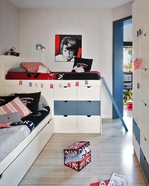 现代美式风格创意儿童房设计装修效果图