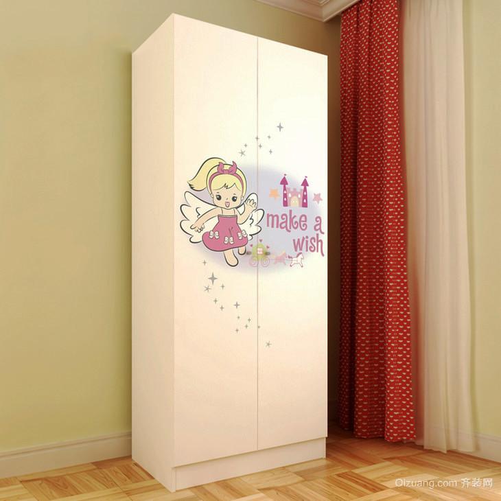 现代简约风格儿童衣柜设计装修效果图大全