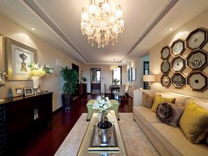 复古欧式风格精致时尚三室两厅室内装修效果图