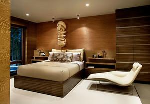 后现代风格大户型卧室背景墙装修效果图赏析