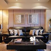 新中式风格大户型客厅沙发装修效果图赏析