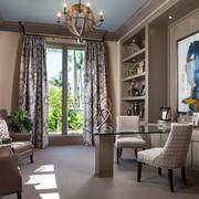 欧式风格大户型室内书房设计装修效果图