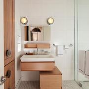 日式风格两居室室内卫生间设计装修效果图