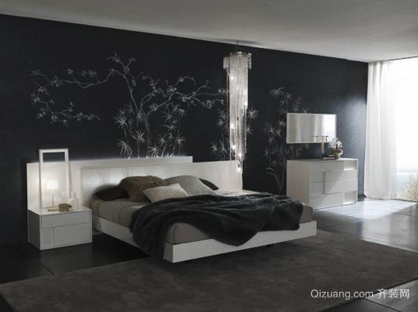 现代风格高冷气质可冷色调卧室装修效果图大全