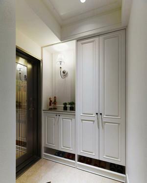 现代美式风格大户型室内进门玄关鞋柜设计装修效果图