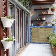 时尚混搭风格大户型阳台花园设计装修效果图