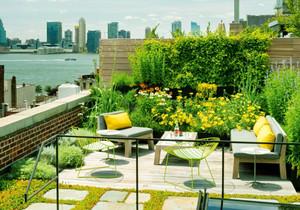 现代风格别墅屋顶花园设计装修效果图赏析
