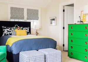 宜家风格小户型色彩混搭卧室装修效果图