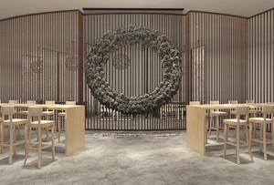 120平米中式风格创意餐厅隔断设计装修效果图