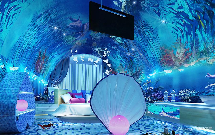现代风格海洋主题酒店客房装修效果图赏析