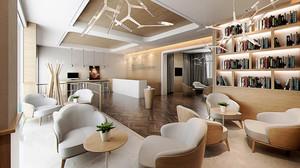 90平米现代风格咖啡厅沙发装修效果图