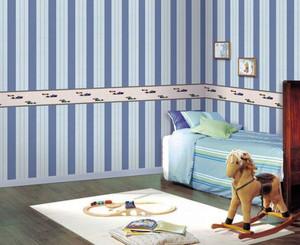 现代简约风格缤纷色彩儿童壁纸装修效果图大全