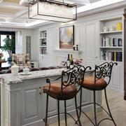 现代美式风格大户型室内客厅吧台装修效果图赏析
