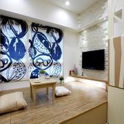 10平米现代风格榻榻米床设计装修效果图