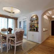欧式风格三居室室内餐厅装饰装修效果图赏析
